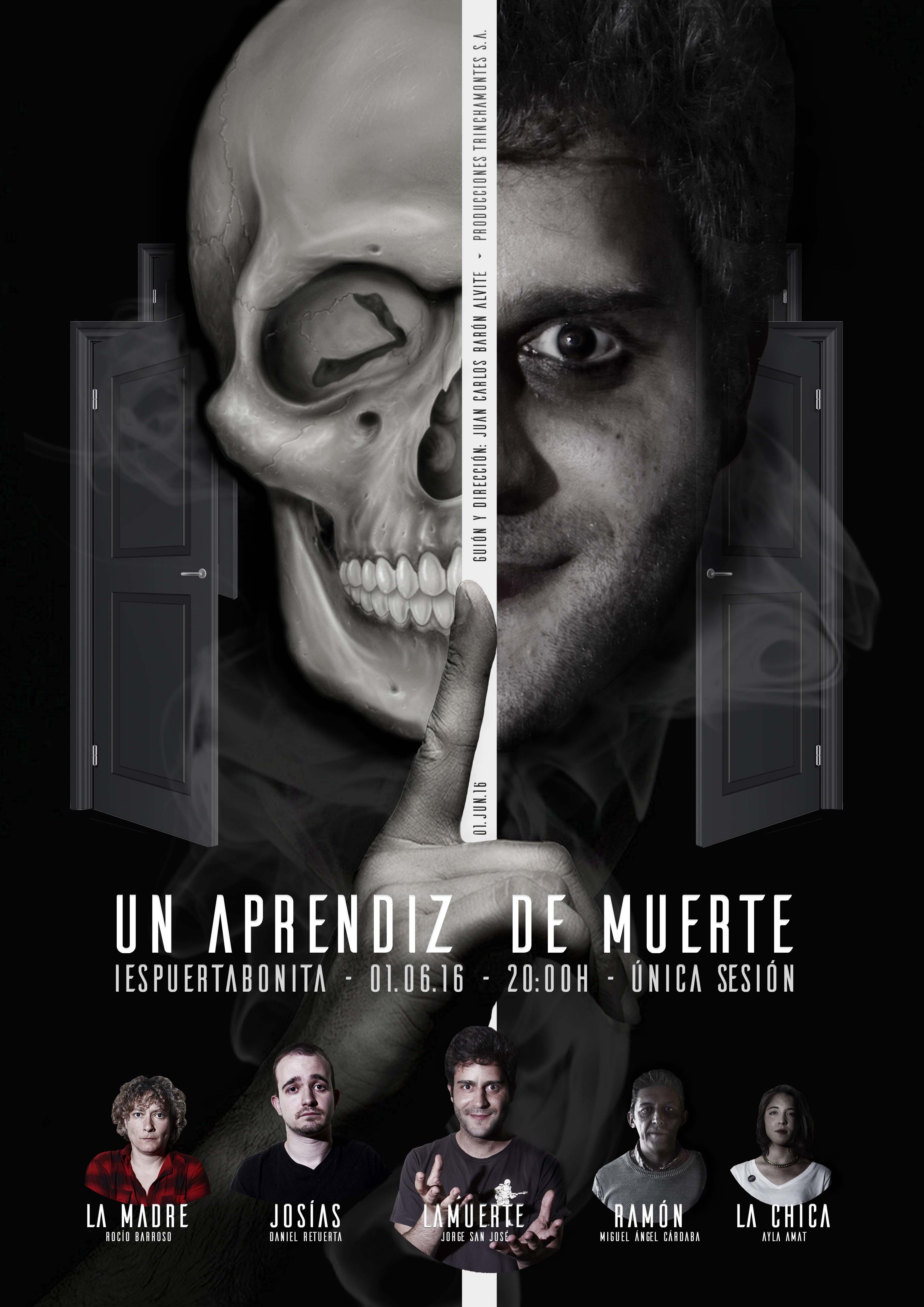 """Cartel obra """"Un aprendiz de muerte"""" Beaesreal.es"""